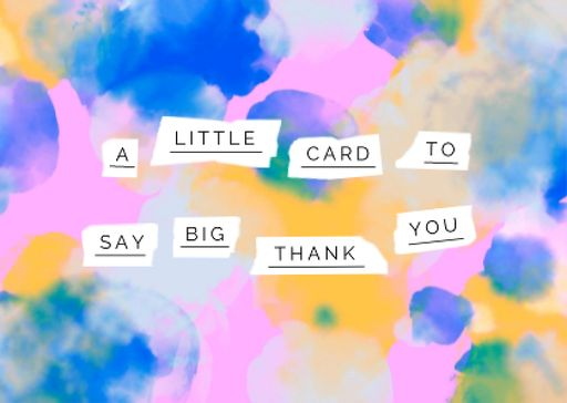Thankful Phrase On Bright Watercolor Pattern