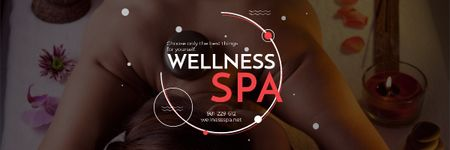 Wellness spa website Ad Email header Design Template