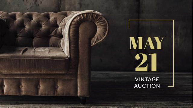 Plantilla de diseño de Furniture Store Sale Luxury Armchair in Brown FB event cover