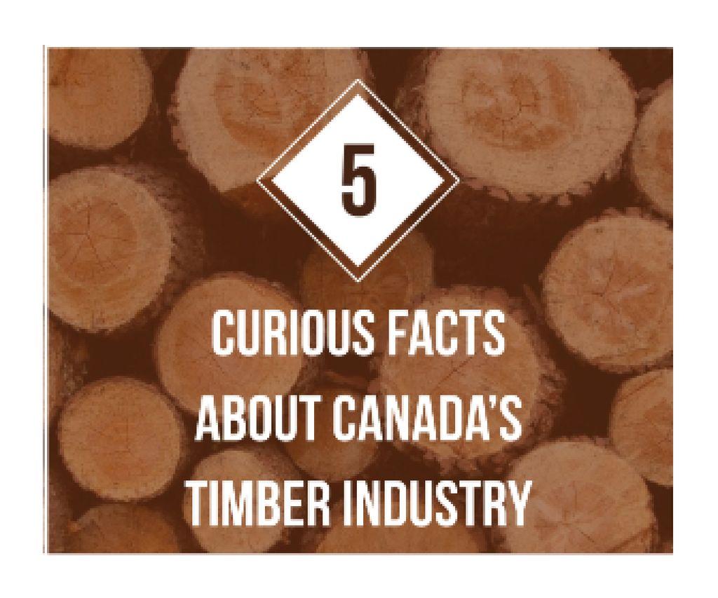 Plantilla de diseño de Timber Facts Pile of Wooden Logs Large Rectangle