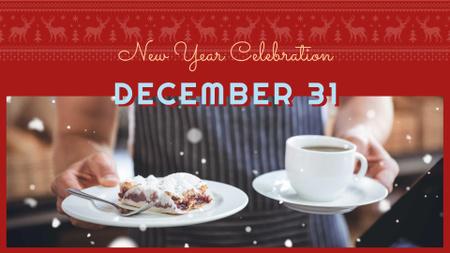 Designvorlage New Year Sale with Sweet Dessert für FB event cover