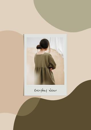 Plantilla de diseño de Woman wearing casual Dress Poster