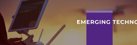 Ontwerpsjabloon van Twitter van emerging technologies poster