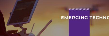 emerging technologies poster Twitter – шаблон для дизайну