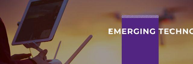 Template di design emerging technologies poster Twitter