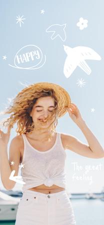 Modèle de visuel Mental Health Inspiration with Happy Woman - Snapchat Geofilter