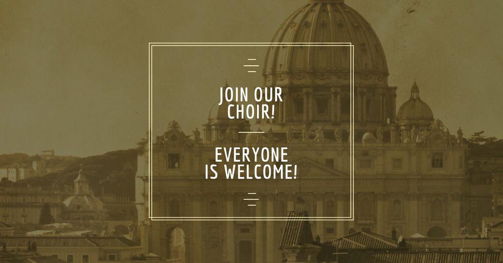 Invitation to Religion Choir — Crear un diseño