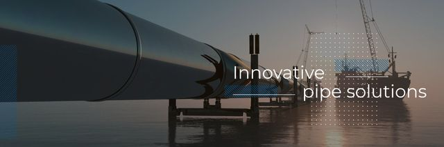 Template di design Innovative pipe solutions poster Twitter