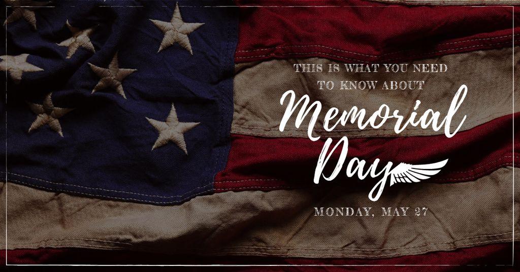 USA Memorial Day with National Flag — Crea un design