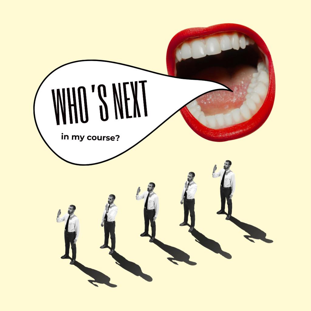 Funny Screaming Female Mouth Instagram Modelo de Design