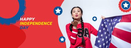 Independence USA Day Greeting Facebook coverデザインテンプレート