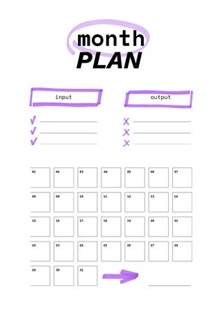 Plantilla de diseño de Monthly Budget Plan in purple Schedule Planner
