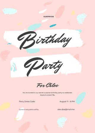 Modèle de visuel Birthday Surprise Party - Invitation