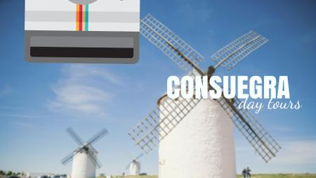Modèle de visuel Consuegra Windmill Travelling Spots - Full HD video