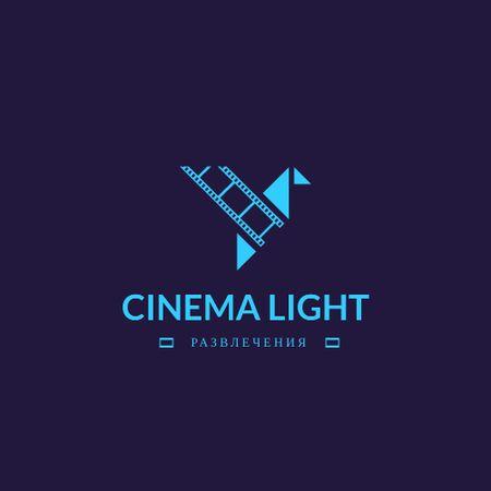 Cinema Club Ad with Film Icon Logo – шаблон для дизайна