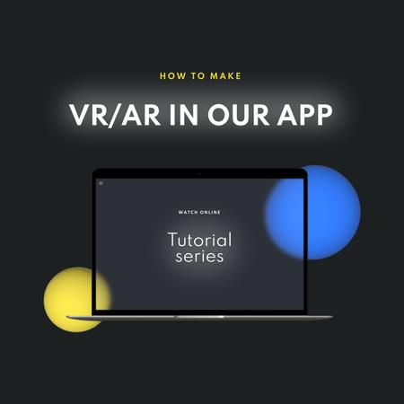 Modèle de visuel App Updates Ad with Laptop Screen - Animated Post