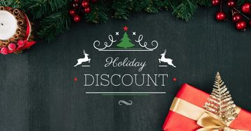 Holiday Discount with Festive Decoration