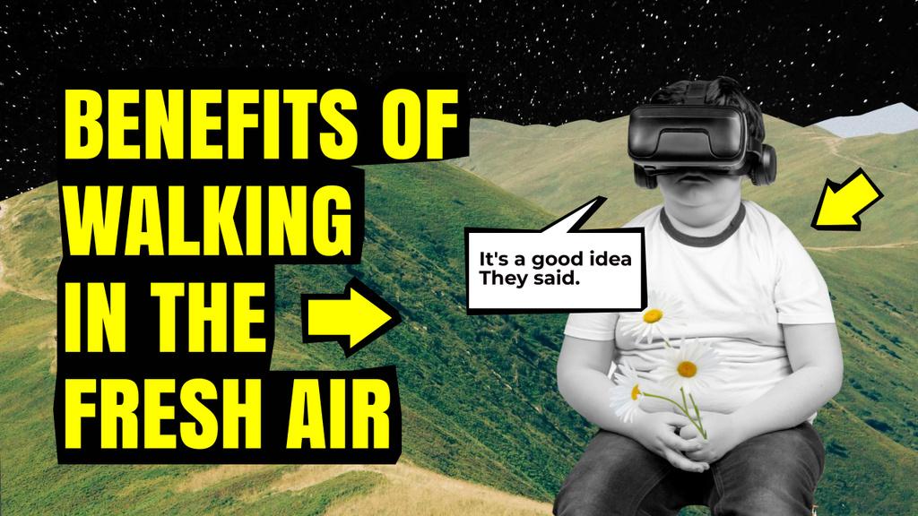 Modèle de visuel VR Reality Promotion with Kid enjoying Game - Youtube Thumbnail