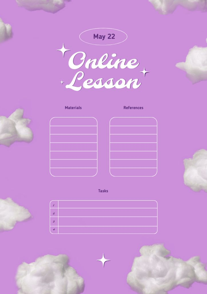 Online Lesson Planning Schedule Planner – шаблон для дизайна