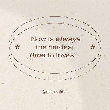 Designvorlage Investment Motivational quote für Instagram