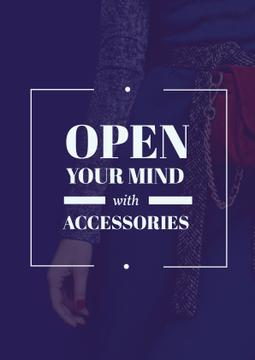 Accessories Quote with Stylish Woman in Blue