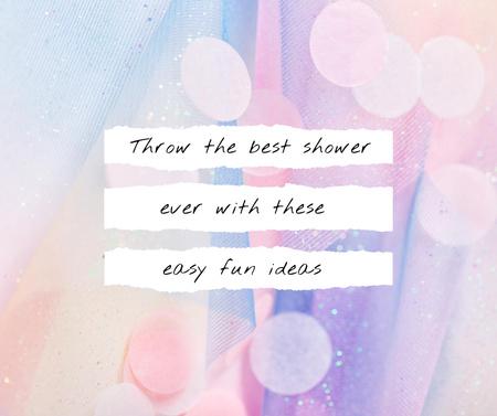 Designvorlage Baby Shower Ideas ad on Bright Texture für Facebook