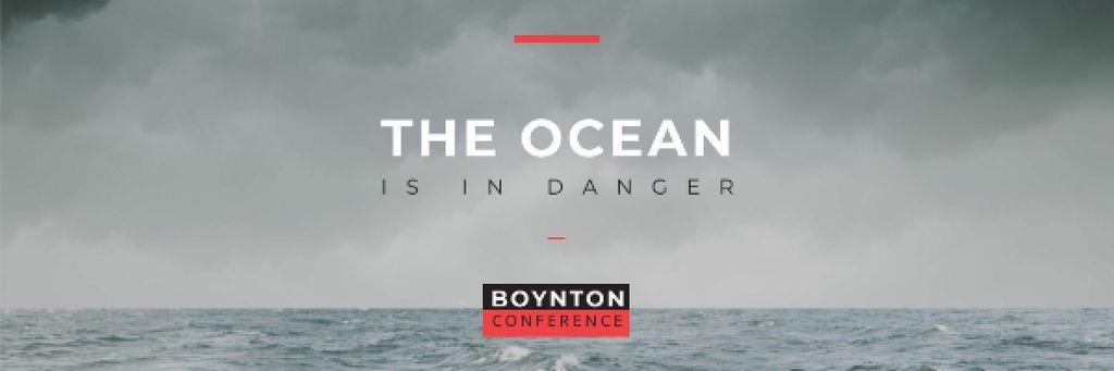Boynton conference the ocean is in danger Email header – шаблон для дизайна