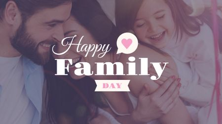 Happy Family day Greeting Title Modelo de Design