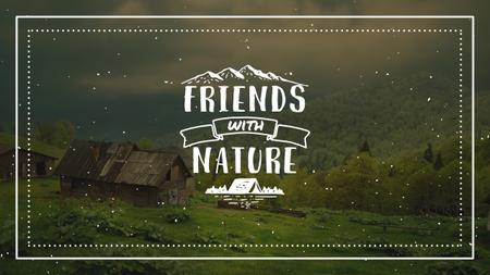 Nature Quote with Scenic Mountain View Youtube Modelo de Design