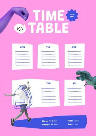 Ontwerpsjabloon van Schedule Planner van School Semester Timetable Planning