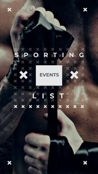 Sporting List Ad with Boxer