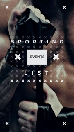 Sporting List Ad with Boxer Instagram Story Modelo de Design