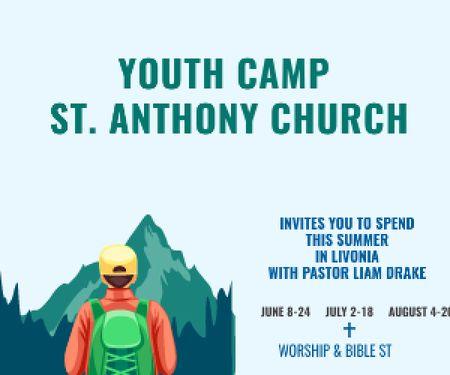 Youth religion camp of St. Anthony Church Medium Rectangleデザインテンプレート