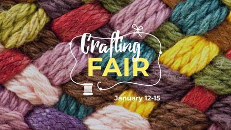 Colorful Yarn for Craft FB event cover – шаблон для дизайну
