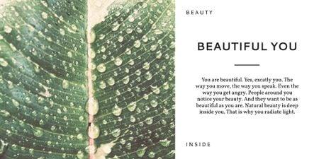 Beauty inspirational quote poster Image – шаблон для дизайну