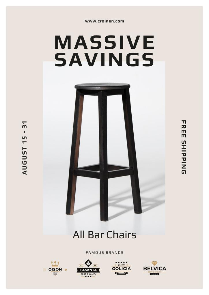 Bar Chairs Offer in White —デザインを作成する