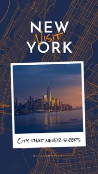 New York city View on Map pattern