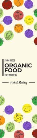 Modèle de visuel Organic food delivery banner - Skyscraper