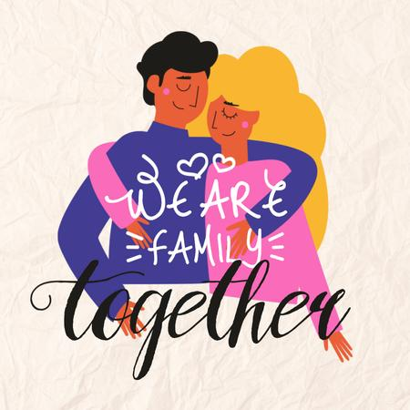 Plantilla de diseño de Family Day Inspiration with Cute Couple Instagram