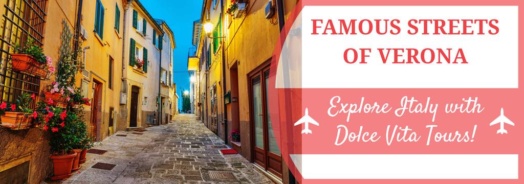 Tour Invitation with Verona Street View Tumblr – шаблон для дизайна