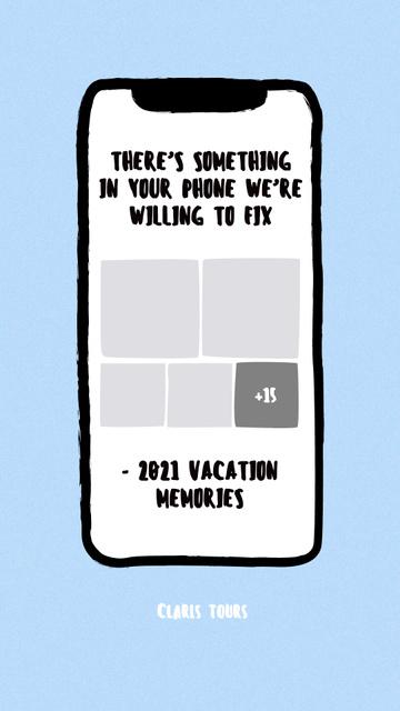 Funny Offer of Travel Tours Instagram Story Modelo de Design