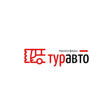 Transfer Services Ad with Bus Icon in Red Animated Logo – шаблон для дизайна