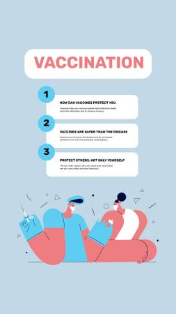 Virus Vaccination Steps Announcement Instagram Story – шаблон для дизайна