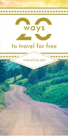 Plantilla de diseño de Travel Tips Forest Road View Graphic