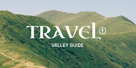 Plantilla de diseño de Travel Inspiration with Green Mountain Valleys Twitter