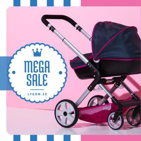 Modèle de visuel Baby Store Sale Stroller in Pink and Blue - Instagram AD