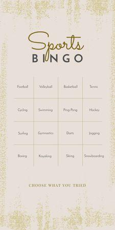 Designvorlage Sports Bingo List für Graphic