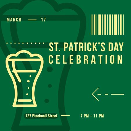 Ontwerpsjabloon van Instagram AD van Annoucement of St.Patricks Day Celebration