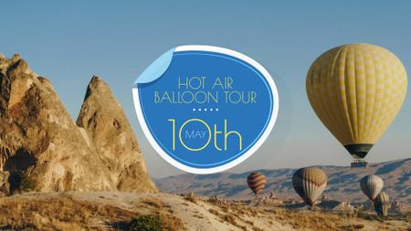 Designvorlage Hot Air Balloon Flight Offer für FB event cover