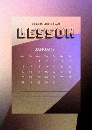 Ontwerpsjabloon van Schedule Planner van Monthly Lessons Planning